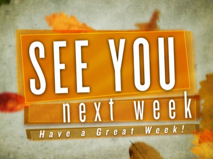 See you next week – WEREP will be back on January 10 2014
