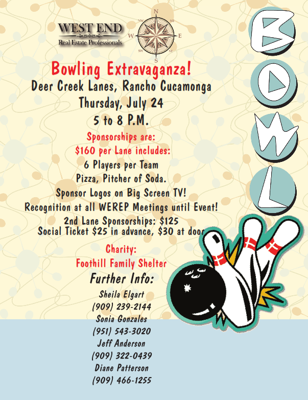 2014 Bowling Event Flyer
