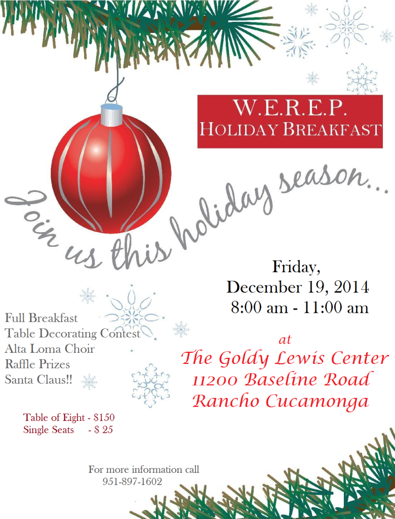Holiday Breakfast Flyer