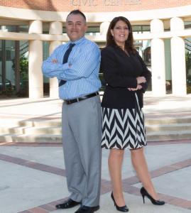 City of Rancho Cucamonga Economic Development Management Analyst, Flavio Nunez and Communications Manager Francie Palmer