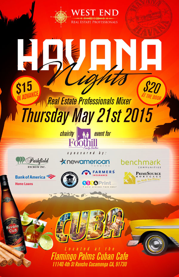 Havana Nights | Real Estate Professionals Mixer | May 21, 2015