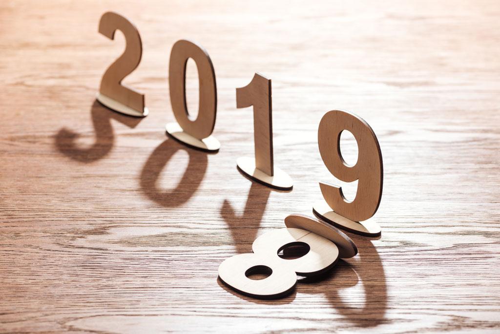 Happy New Year Logo 2019 76